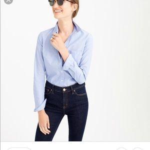 Size 00 J. Crew blue dress shirt